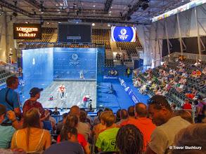 Photo: Glasgow 2014 - Glass Squash Court at Sctostoun Sports Campus, Glasgow