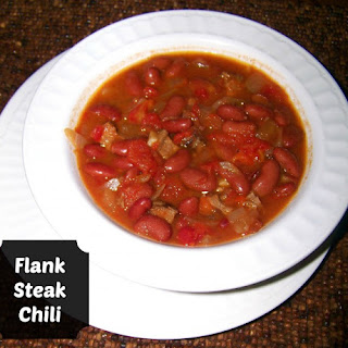 Slow Cooker Leftover Flank Steak Chili.
