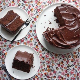 Dark Chocolate Malt Layer Cake