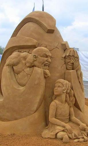 Sand Sculpture in Kolomenskoye