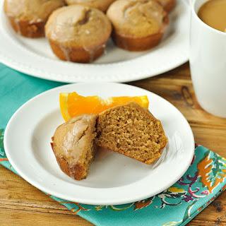 Glazed Gingerbread Doughnut Muffins