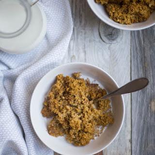 Healthy Baked Pumpkin Oatmeal