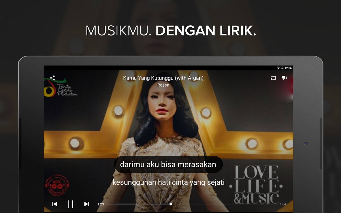 Musixmatch Lyrics Music Player v6.4.1 Full Apk