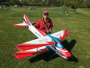 Photo: Michi after his maiden flight..... usual smile!
