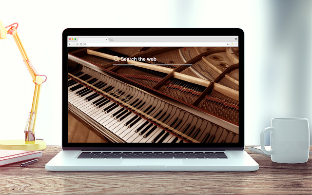 Pianos New Tab Music Theme