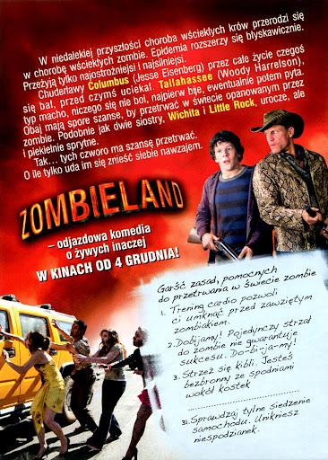 Tył ulotki filmu 'Zombieland'