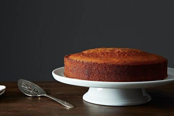 Elegant Grand Marnier Olive Cake Which Is Very Unique And Very Delicious.