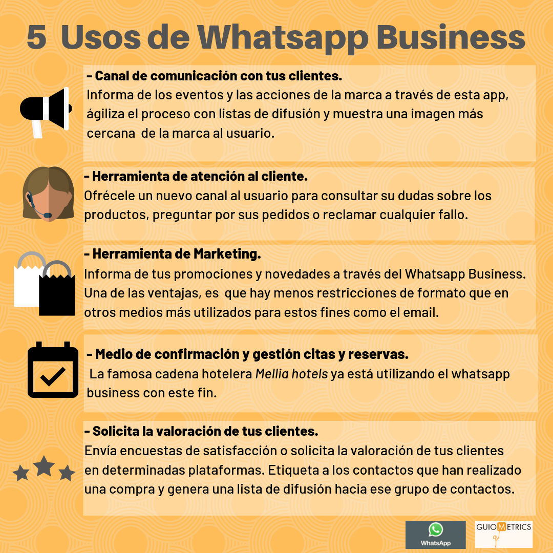 5 Usos de Whatsapp Business