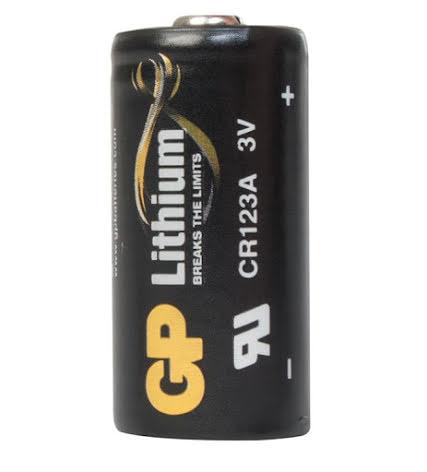 Batteri CR123A 3V 1500mAh Lithium