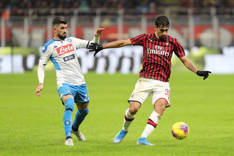 L'AC Milan, sans Saelemaekers, profite du faux-pas du Napoli de Mertens