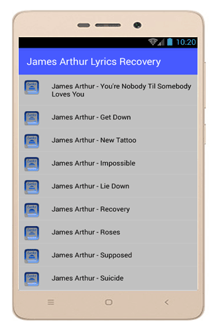 Download James Arthur Lyrics Impossible Apk For Android Latest Version