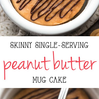 Skinny Single-Serving Peanut Butter Mug Cake