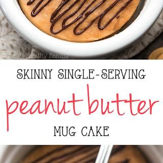 Skinny Single-Serving Peanut Butter Mug Cake.