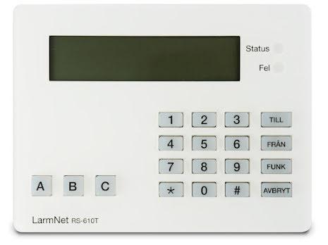 Manöverpanel LarmNet RS-610T (ny kapsling)