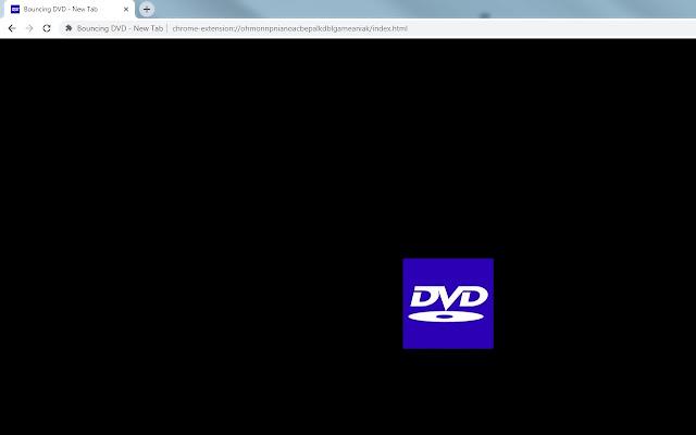 Bouncing DVD - New Tab