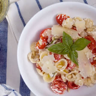 Orecchiette Pasta with Cherry Tomatoes and Ricotta Cheese.