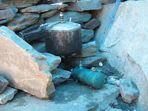 Photo: hand made stove.... small by very useful