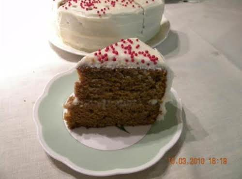"Pumpkin Gingerbread Layer Cake with Cream Cheese Frosting ""I threw it into..."