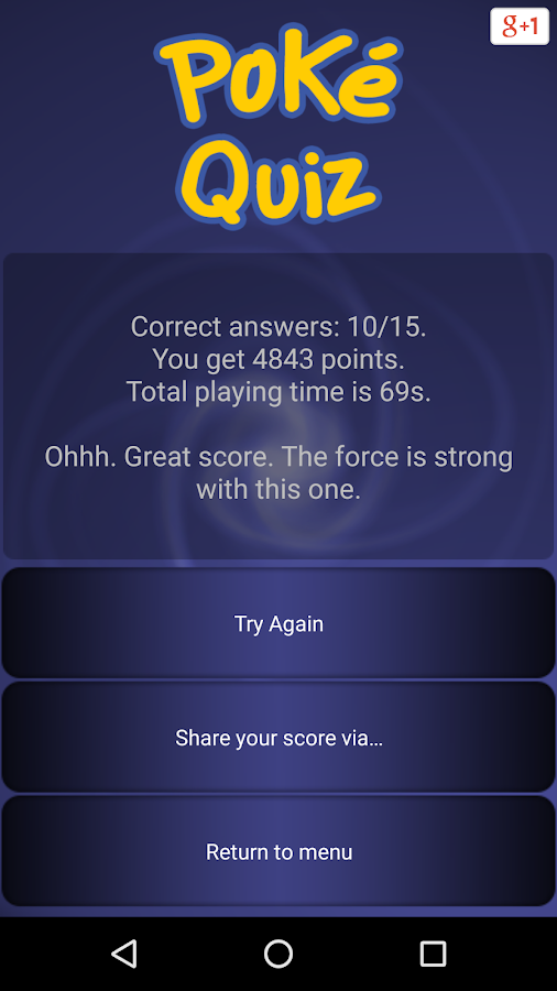Trivia for Poke - I generation- screenshot