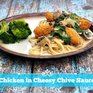 Chicken in Cheesy Chive Sauce with Philly Cream Cheese.