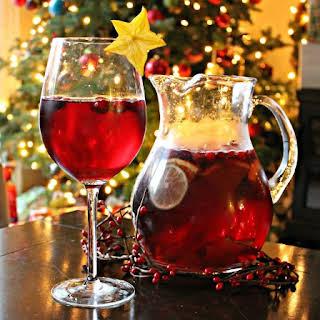 Christmas Cranberry Pomegrante Sangria.