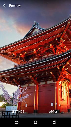 日本の寺院ライブ壁紙