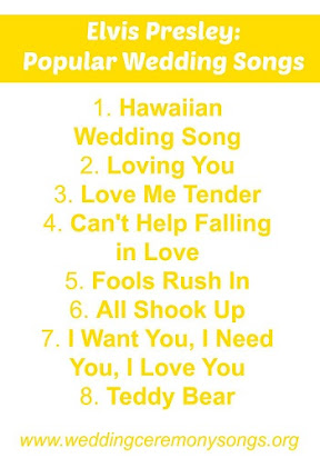 Elvis presley love songs for weddings