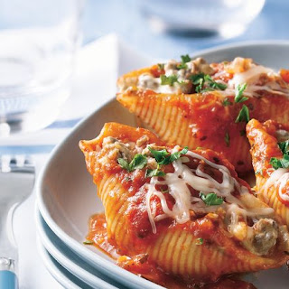 Three-Cheese Beef Pasta Shells.