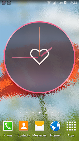 Pink Love Clock Widget 5.5.1 screenshot 1568917