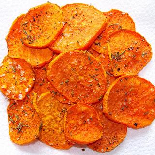 Black Pepper and Rosemary Sweet Potato Crisps