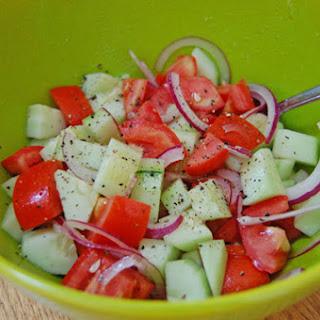 Cucumber and Tomato Salad.
