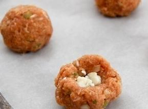 Add ground chicken then mix until combined – do not over mix or the...