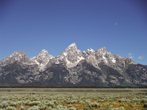 Photo: Day 18 Jackson Hole to Dubois WY 88 miles 4450' climbing: Can't have enough pictures of these spectacular mountains.