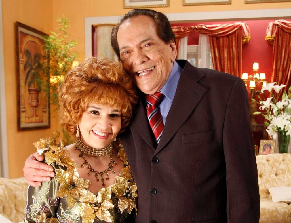 Quadro Ofélia - Ofélia (Claudia Rodrigues) e Fernandinho (Lucio Mauro)