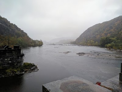 Harpers Ferry on a rainy day