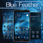 Blue Feather Go Launcher Theme