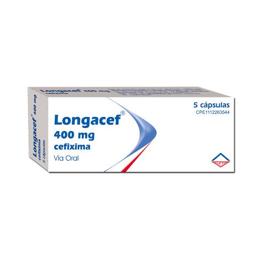 Cefixima Longacef  400 Mg X 5 Cápsulas leti 400 mg x 5 capsulas