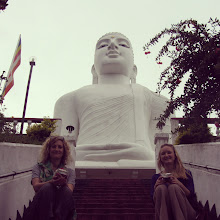Photo: Athena and Me at the Big Buddha in Kandy.