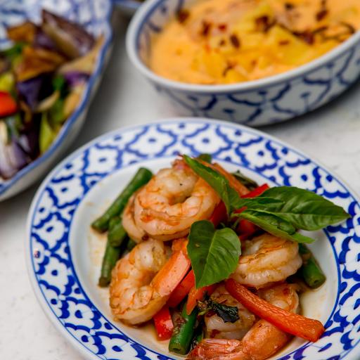 Basil Scallop & Shrimp Stir Fry
