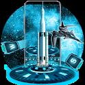 Space Galaxy UFO Keyboard Theme icon