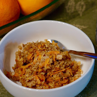 Overnight Steel Cut Oats with Oranges, Carrots and Walnuts Recipe