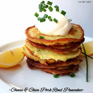 Cheese & Chive Pork Rind Pancakes