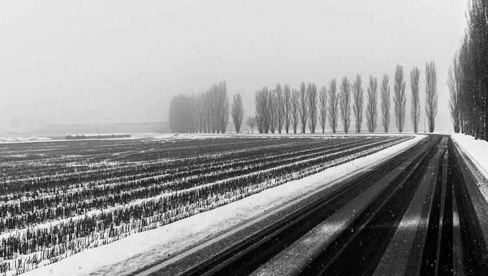Nevicata lungo la strada di Atum-Pietro