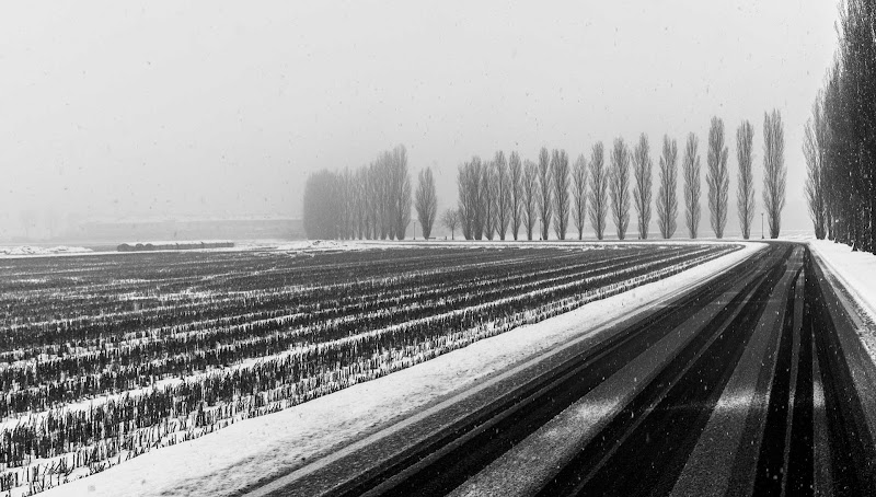 Nevicata lungo la strada di Aktarus