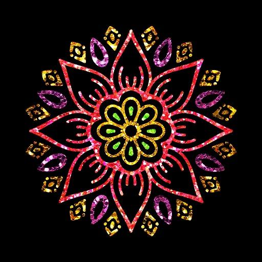Draw Glitter Paint - Adult Glitter Coloring Book Icon