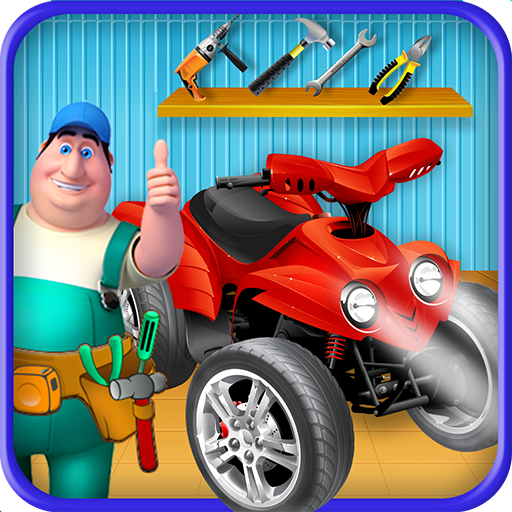 Quad Bike Factory: Auto Car Mechanic Garage Game (game)