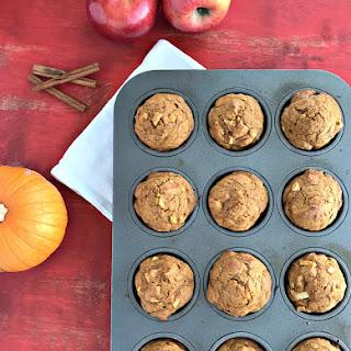Whole Wheat Apple Pumpkin Muffins.