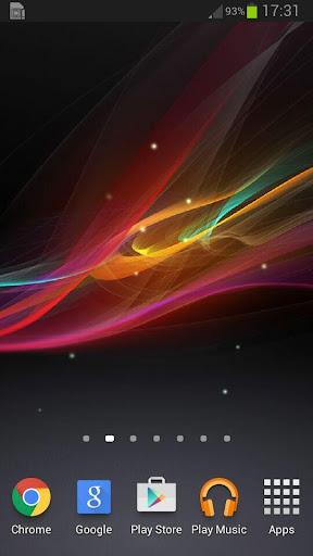 色の波Zライブ壁紙