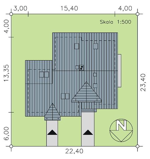 BS-14 dwulokalowy - Sytuacja