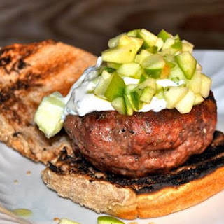 Lamb Burgers With Apple Relish & Creamy Chive Mayo